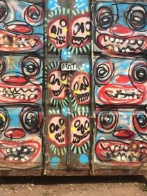 Graffiti on the sea front, Brighton, The World Transformed 2017