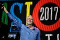 Jeremy Corbyn at Glastonbury 2017