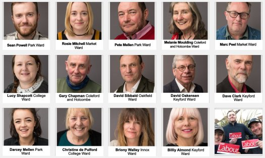 Frome Town (and District) Council Candidates May 2nd 2019