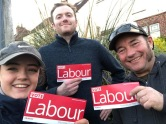 Sean, Pete and Darcey out on the stump, Park Ward
